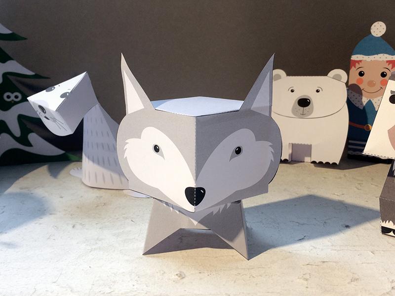 Calendrier De L Avent Irekiplay Paper Toys De Noël